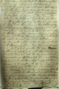 Figure 13. Agreement by David Jacob, a Shinnecock Indian, to be represented by the firm of Rogers and Herrick, July 27, 1803. Rogers File, Southampton Town Historical Society collections.
