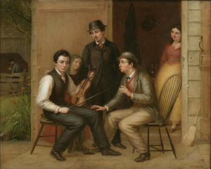Catching the Tune, 1866. Oil on canvas. The Long Island Museum, Museum Purchase.