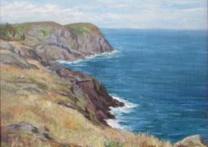 Figure 4: Blackhead, Monhegan Island, c. 1915, oil on canvas, Laura Mackay.