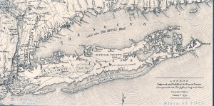 Figure 1: Map of Long Island, by William Fadden. 1 January 1779. Courtesy of Stony Brook University Libraries.