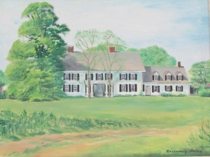 Figure 5: Old Mastic House, oil on canvas, by Rosemary Hulse, c. 1960.