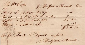 "Figure 6. Bill for the purchase of ""2 Old Whale Boats."""