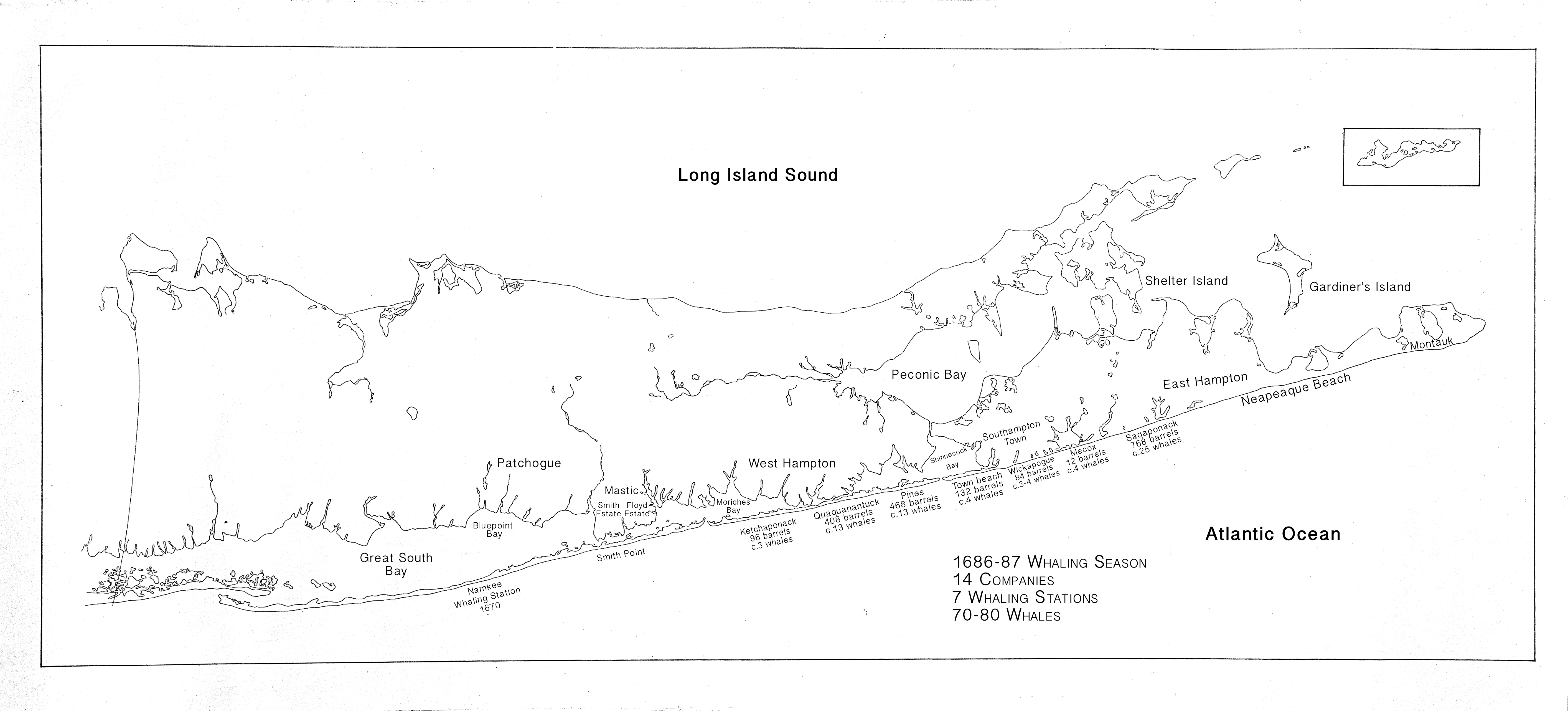 Indian Whalers on Long Island, 1669-1746 | Long Island ... on hampton beaches long island, eastern long island, map of santa cruz mountains, southampton long island, east hampton long island, south hampton long island, map of columbia valley, map of livermore valley, map of santa ynez valley, map of sonoma coast,