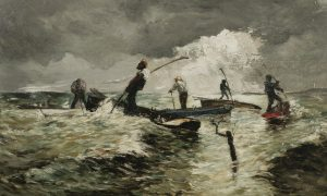 Fig. 2: Frank Myers Boggs (1855-1926), Clamming at Shelter Island, 1878, oil on canvas. The Long Island Museum.