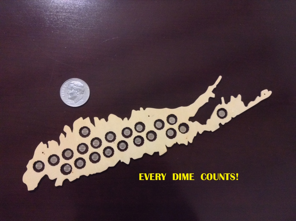 Fig. 5: Every Dime Counts!  Long Island and the March of Dimes Fight Polio.  Photograph by the author.