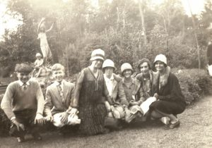 Fig. 6 Mary Fletcher and students at the Theodore Roosevelt Sanctuary, Oyster Bay, c. 1925-1926. Mary Fletcher is on the far right. Courtesy Mary T. MacMurray Fletcher Collection, Box 1, Special Collections and University Archives, Stony Brook University Libraries.