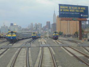 Fig. 1. LIRR diesel locomotives at Long Island City passenger yard (2014: Collection of Derek Stadler)