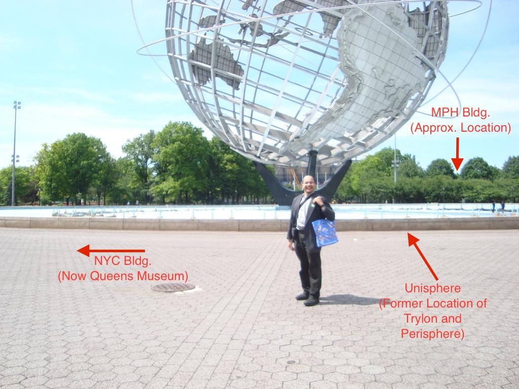 Fig. 4: The author, Durahn Taylor, at the World's Fair site.