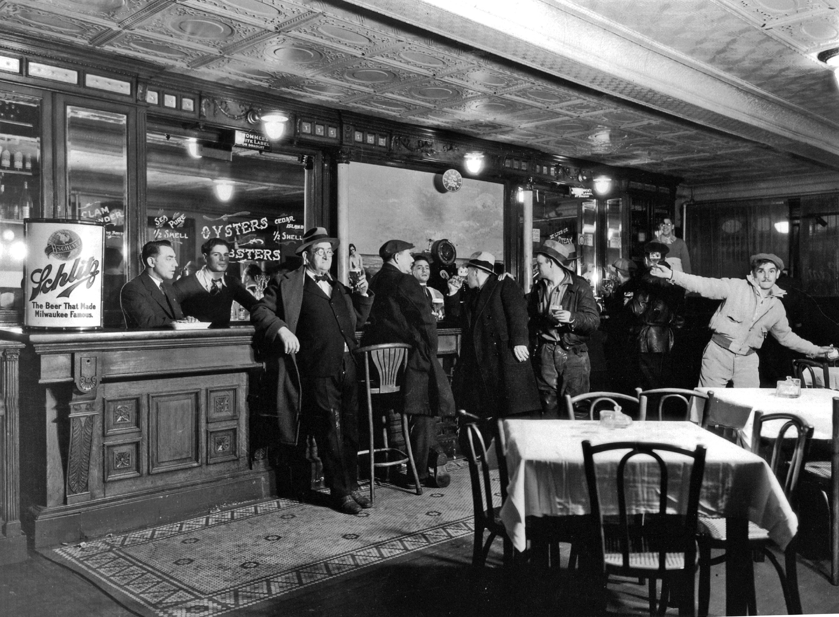 47d261b51c8 Fig. 11. Patrons at Claudio s Tavern in Greenport celebrate the  legalization of beer on April 7